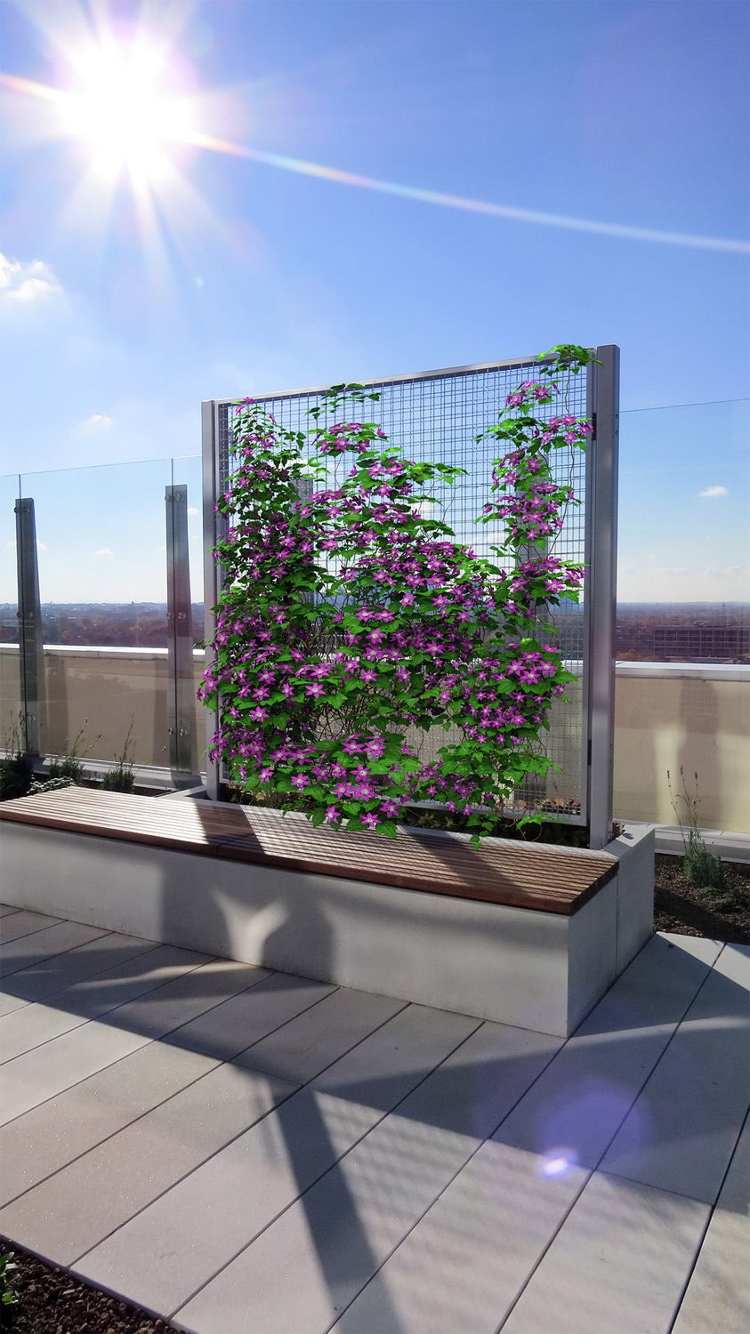 Post Mounted Trellis Columbus Oh Cityscapes