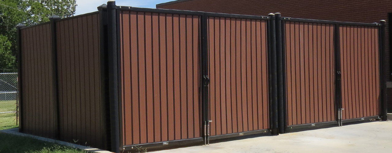 Covrit dumpster surrounds and ground screens