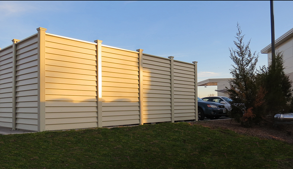 Improve the look of your dumpster enclosure with Covrit