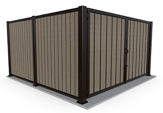 Covrit Vertical PlankWall with Madison Gate
