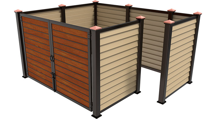 Covrit® Dumpster Enclosures | Elegant, durable and made to order