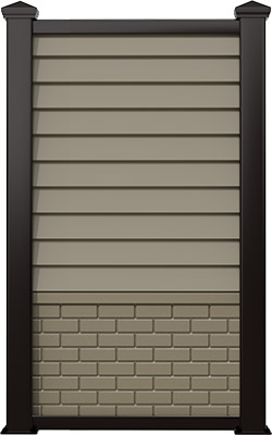 ABS Clapboard with Brick
