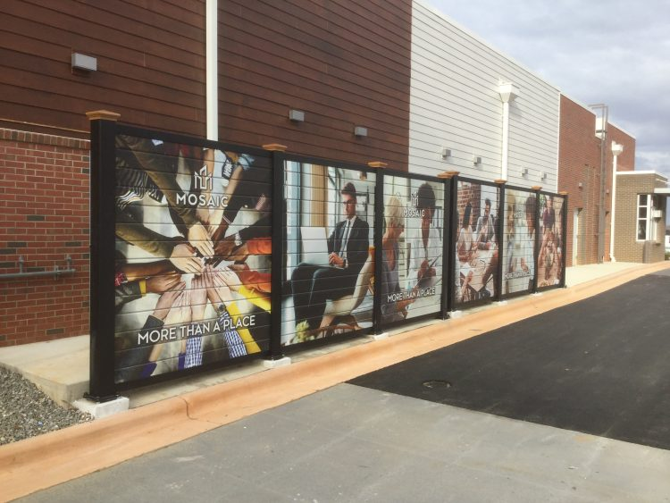 Custom Printed Screen Wall in Pittsboro, NC | CityScapes Inc.